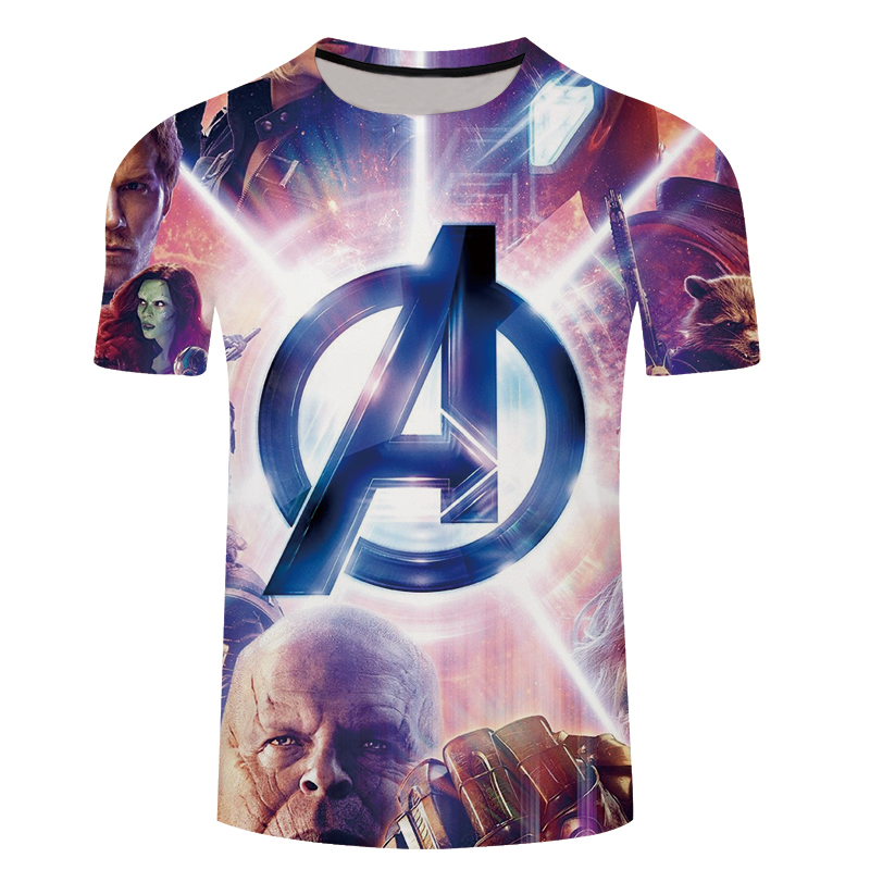 Fashion 3D T-shirts Men Avengers 3D Print Summer O-neck Streetwear Casual Short Sleeve Tees Shirt Man Top Fitness 5XL