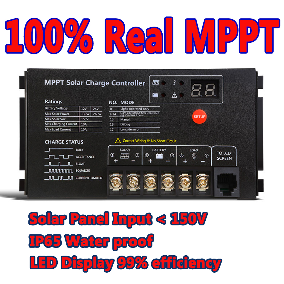 Buy German Quality Mppt 10a Solar Charge Controller Wiring Schematic Also Circuit Panel Battery Regulator Led Display 12v 24v Auto From