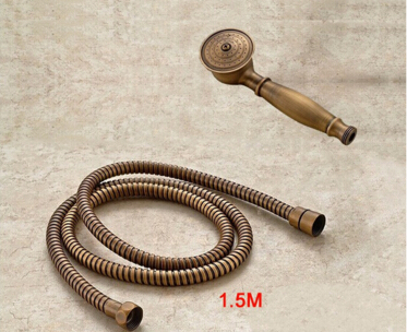 2016 Brass Classical Telephone antique Hand Hold Shower Head +1.5M antique shower pipe hand shower