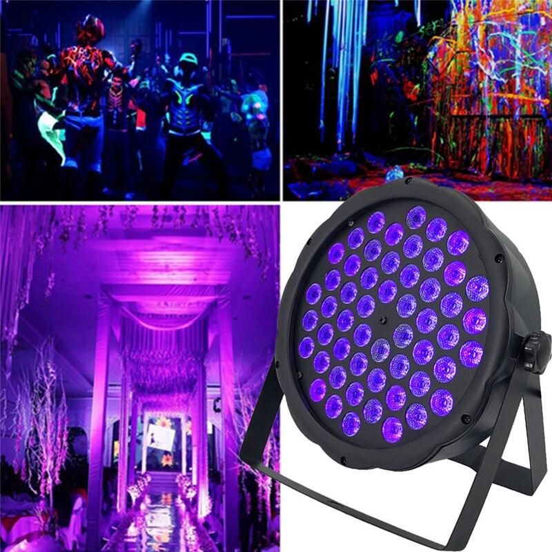12/36/54LEDs UV Purple Stage Par Light 24W/54W/65W Ultraviolet Strobe Blacklight Projection Lamp For KTV Pub Club Disco DJ Party