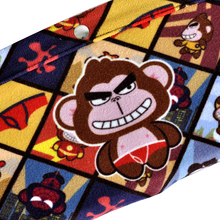 Naughty Monkey Cartoon Car Seat Gap Filler Storage Pocket Bag