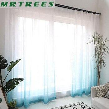 mrtrees tule gordijnen 3d gedrukt keuken decoraties venster behandelingen amerikaanse woonkamer slaapkamer sheer voile gordijnen deur