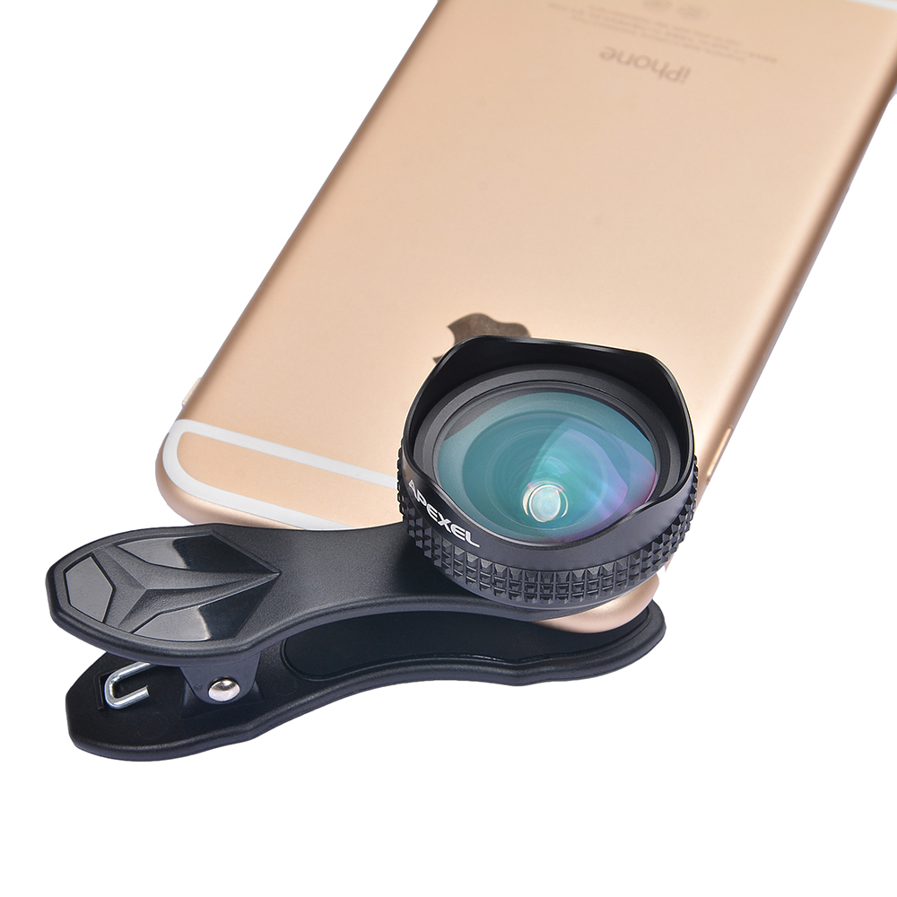 online retailer edd28 e7c74 US $39.98 |Apexel Optic Pro Lens Universal 18MM HD Wide Angle Camera Lens  Kits More Landscape for iPhone 6 6s 7 Plus Samsung S8 S7S6 Edge-in Mobile  ...