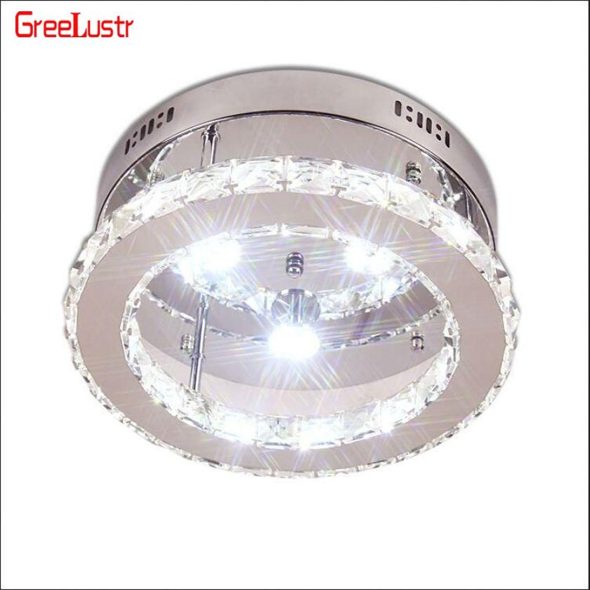 светоч светодиодные светильники - Ring Crystal LED Ceiling Lights Luminaria Ceiling Lamp Fixtures Lustre Plafonnier Aisle Entrance Lamp For Home Lighting Lampara