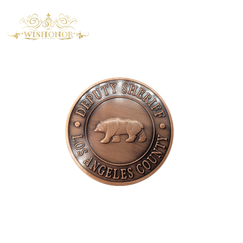 US $2 56 31% OFF|Hot Sale For American Los Angeles County Deputy Sheriff  24K Gold Brass Coin, Custom Challenge Coins Medal 40*3 mm Souvenir Coin-in