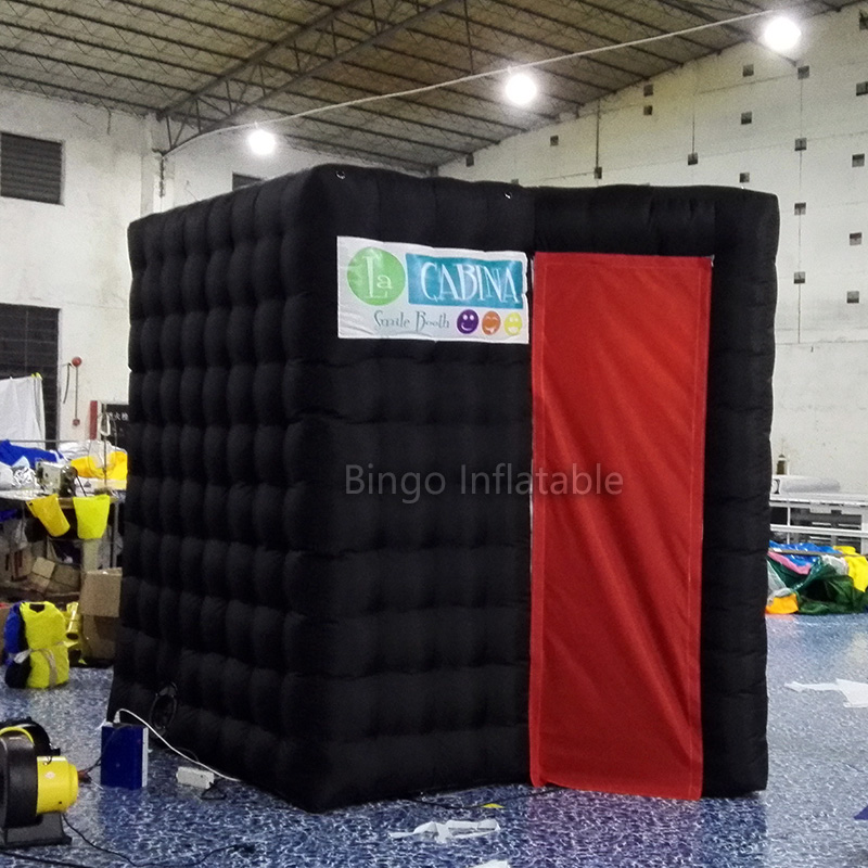 Sector black inflatable photo booth /photo kiosk booth/ photo booth enclosure for outdoo ...