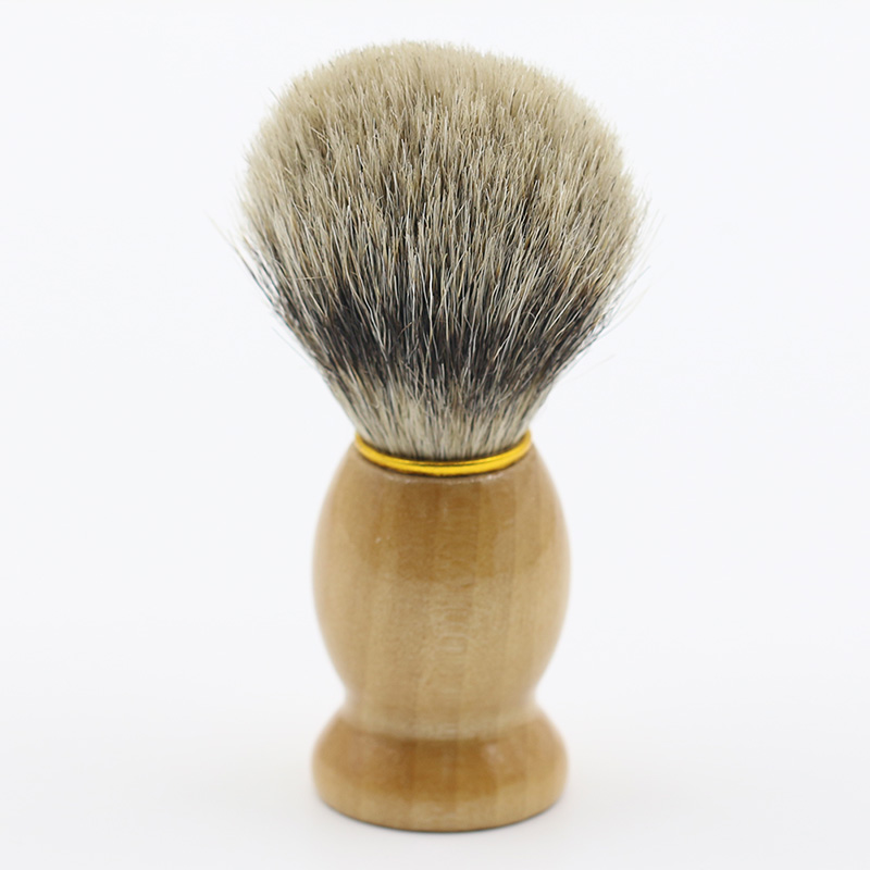 Men Pure Synthetic Hair Removal Vintage Badger Shaving Brush Cosmetic Tool  Latest Product 7LVN