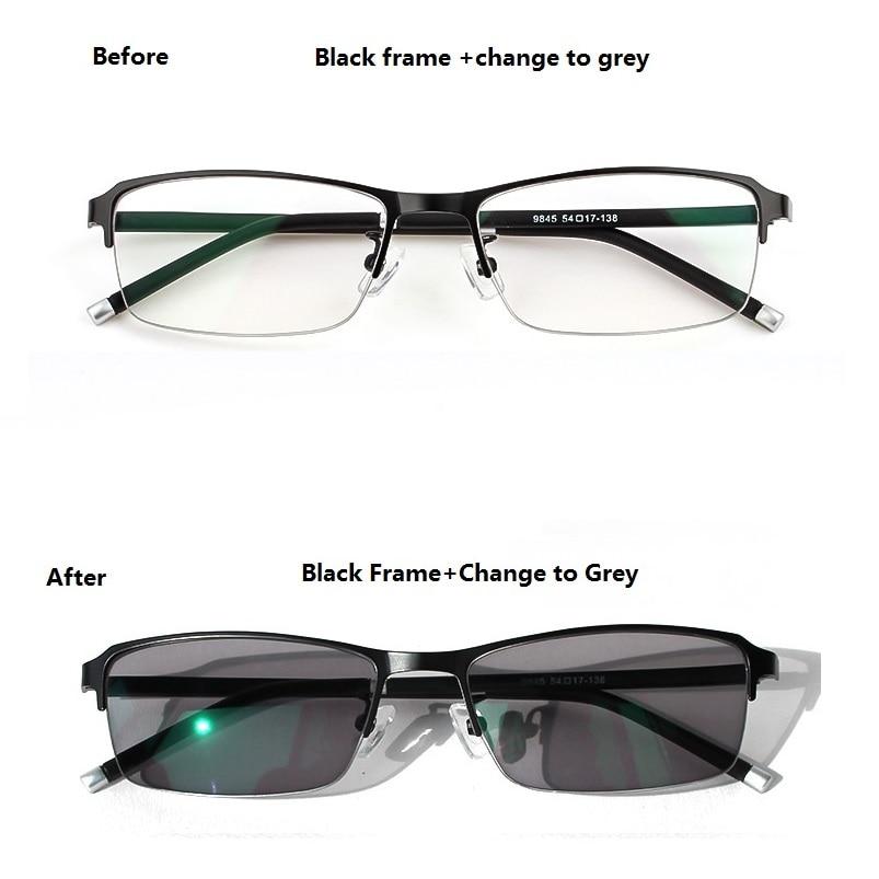 CHASHMA TR90 photochromique hommes lunettes caméléon transition UV lunettes hommes hommes cadre personnalisé prescription myopie moins