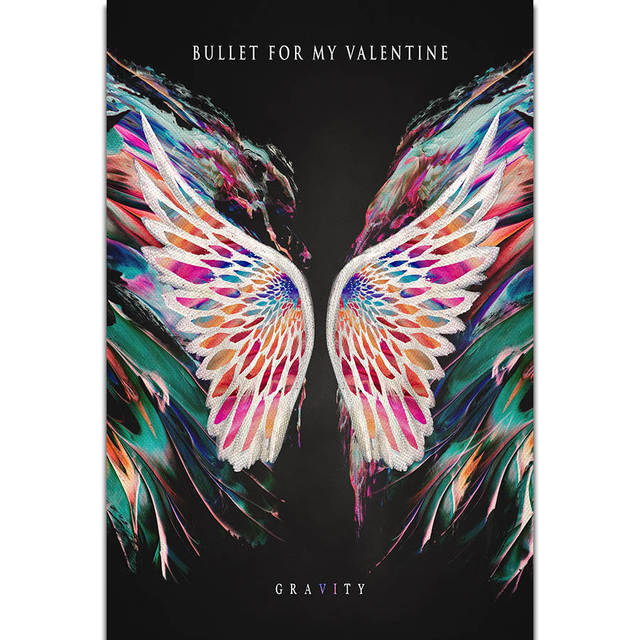 S1838 Album Cover Bullet For My Valentine Gravity Wall Art Painting