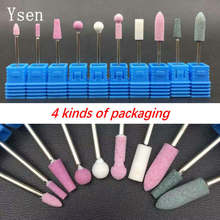 10 Style/Set Ceramic Stone Roatry Burr High Quality Nail Art Electric Drill Manicure Machine Milling Cutter Nail Files