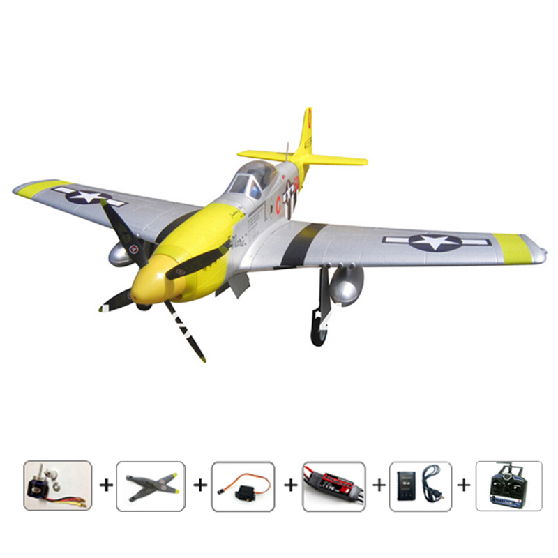 Radios Airplane P51D remote control plane 6CH RC model plane RTF EPO hobby model airplanes electronic aeromodelling plane toys free shipping rc airplane cessna 182 810mm small cessna remote control air plane model epo hobby airplanes frame kit aeromodel
