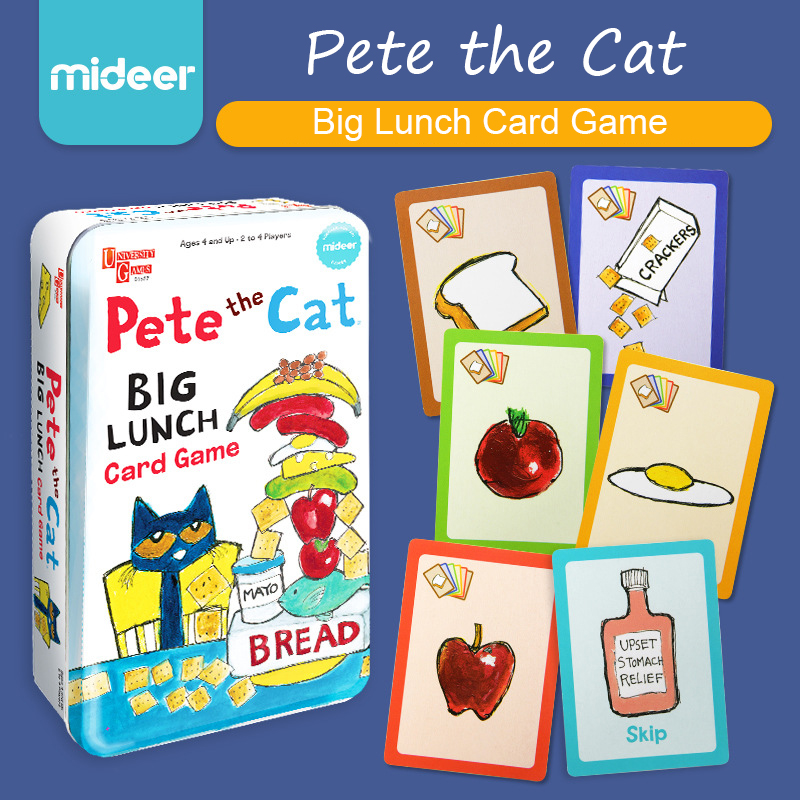 Pete The Cat Big Lunch Card Game Fun Cards Toy Food Card Color Matching Interactive Games 2 To 4 Players Ages 4 And Up