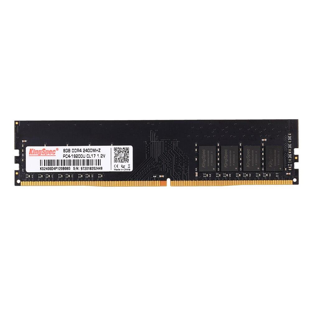 2018 NOUVEAU KingSpec DDR4 4 GO 2400 Mhz mémoire RAM 288pin Pour ordinateur de bureau Haute Compatibilité Et La Stabilité RAM ordinateur de bureau Mémoire