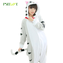 0fdf79f3f420 Adult Pajamas Cosplay Animal Nightwear Cat Clothing Flannel Hooded Pajamas  Cartoon Cute Animal Onesies Sleepwear For