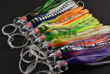 Octopus lure squid jigs big game bait 22.5cm 90g drag fishing bait feather skirt with fishing line and fishing hook sea fishing