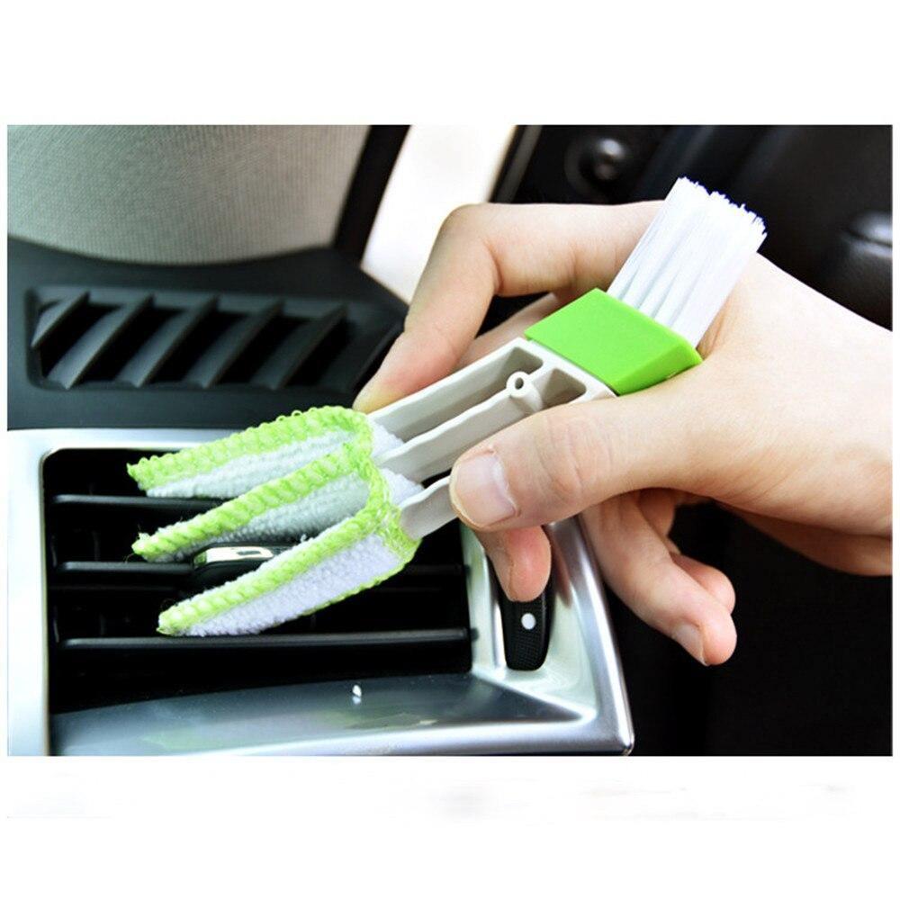 Leal De Aire De Ventilación De Coche Condición Limpiador Ciego Teclado Duster Doble Cabezas De Cepillo De Limpieza/0,8
