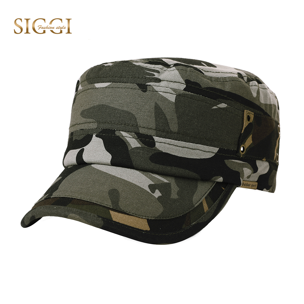 FANCET Outside Casual Linen Unisex Military Hats 4 Panels Soft Breathable  Hole Adjustable Army Caps For a1801797605