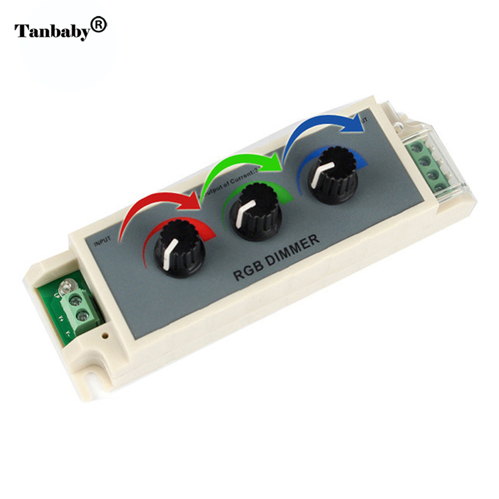 Rgb Dimmer Us 7 7 17 Off Tanbaby Led Dimmer Rgb Controller Dc12 24v Rgb Controller 3 Channel For Led Strip 3528 5050 Best Quality In Rgb Controlers From Lights