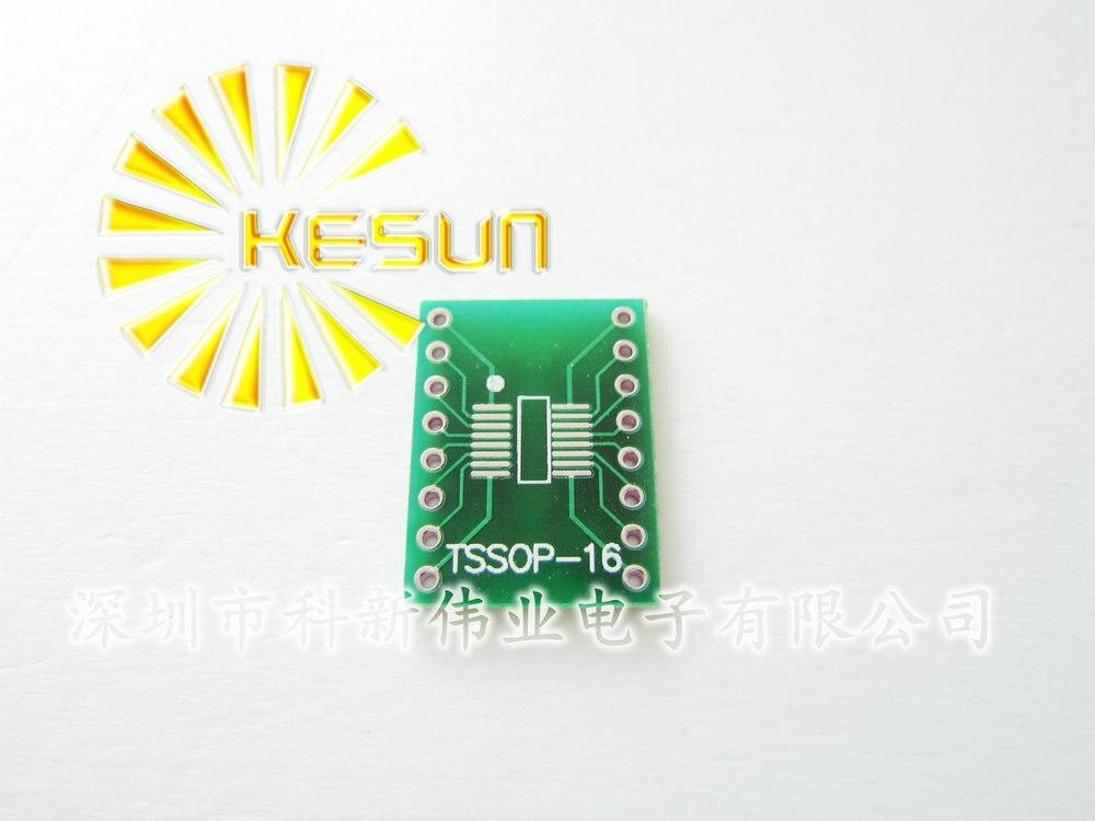10PCS SOP16 SSOP16 TSSOP16 To DIP16 0.65//1.27mm IC Adapter PCB Board New HI
