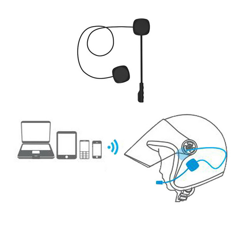 Wireless Bluetooth 5.0 Headset Speaker Handsfree Music Call Control Headphone Universal MH04 Motorcycle Scooter Helmet Headset