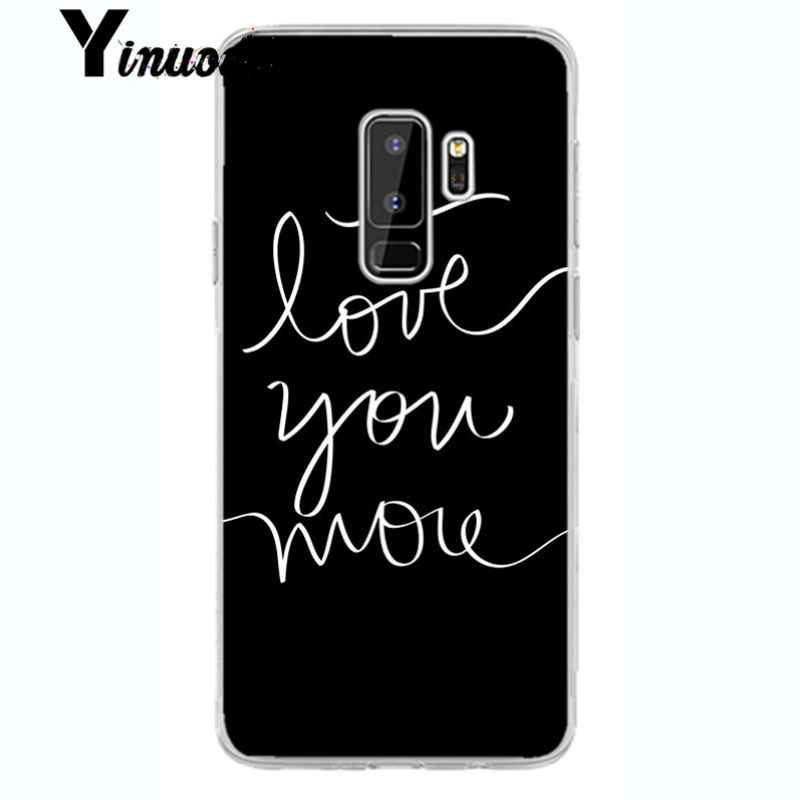 Yinuoda EXO kpop Heart Drawing รักดึงนิ้วมือใหม่มาถึงโปร่งใสโทรศัพท์มือถือกรณีสำหรับ samsung galaxy S9 plus