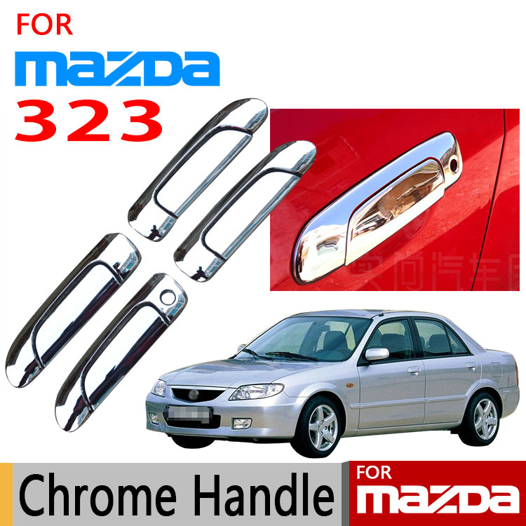for mazda 323 chrome door handle cover trim set of 4pcs for ford