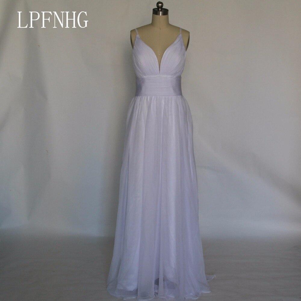 Beach Wedding Dresses 2018 V Neck Sleeveless Backless