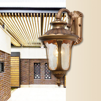 American Vintage LED Wall lamp Outdoor Wall Sconce Lighting Waterproof Garden Wall Light Glass Porch Lights Lampara