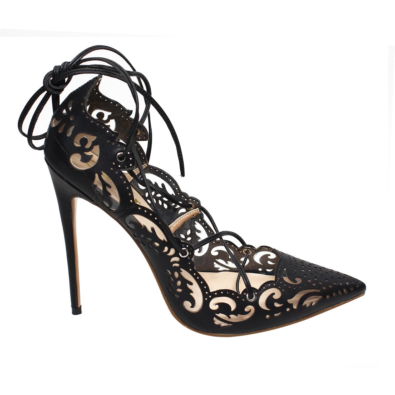 Motif Creux Or Cm Talons argent Sexy Chaussures Beige Ladies'single Pompes noir blanc Pointu 12 Hauts or nu Femmes À 0nOkPX8w