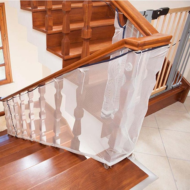 Children Kids Protection Stair Fence Baby Stair Safety Net Balcony Baby  Safety Fence Stair Net 200