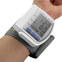 Hot Automatic Home Wrist Blood Pressure LCD Digital Display Screen Pulse Sphygmomanometer and Tonometer Monitor Heart Beat Meter