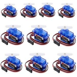 Image 1 - 10 ピース Feetech FT90R サーボ、 360 度連続回転 9 グラムマイクロ RC サーボ、 6 ボルト 1.5 キログラム Pwm ドローンスマート車、ボート、ロボット