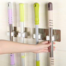 2018 Wall Housekeeper Wall Mounted Mop Organizer Holder PP+PVC Brush Broom Hanger Storage Rack Kitchen Tool Hanging Pipe Hooks(China)