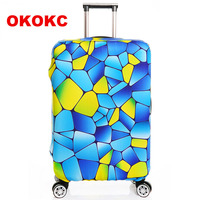 Thick S M L XL Elastic Suitcase Cover Fashion Luggage Protective Sleeve Trolley Bags Cover For