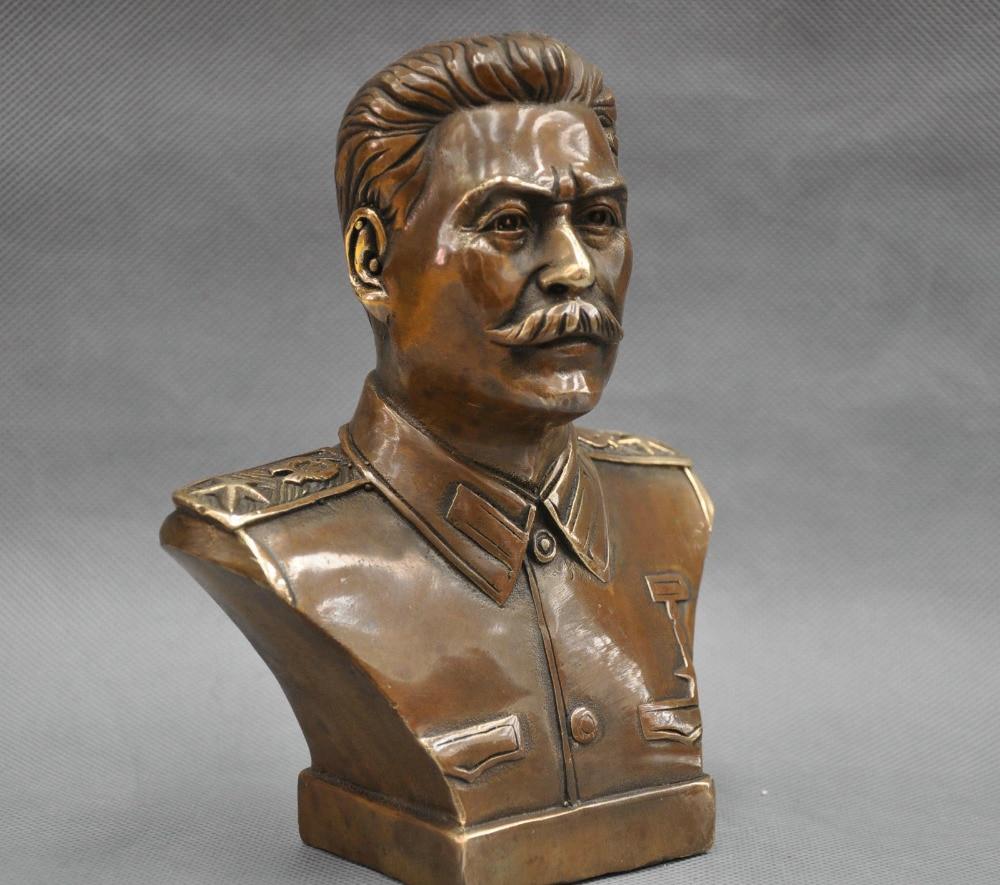 6 Russian Leader Joseph Stalin Bust Bronze Statue6 Russian Leader Joseph Stalin Bust Bronze Statue