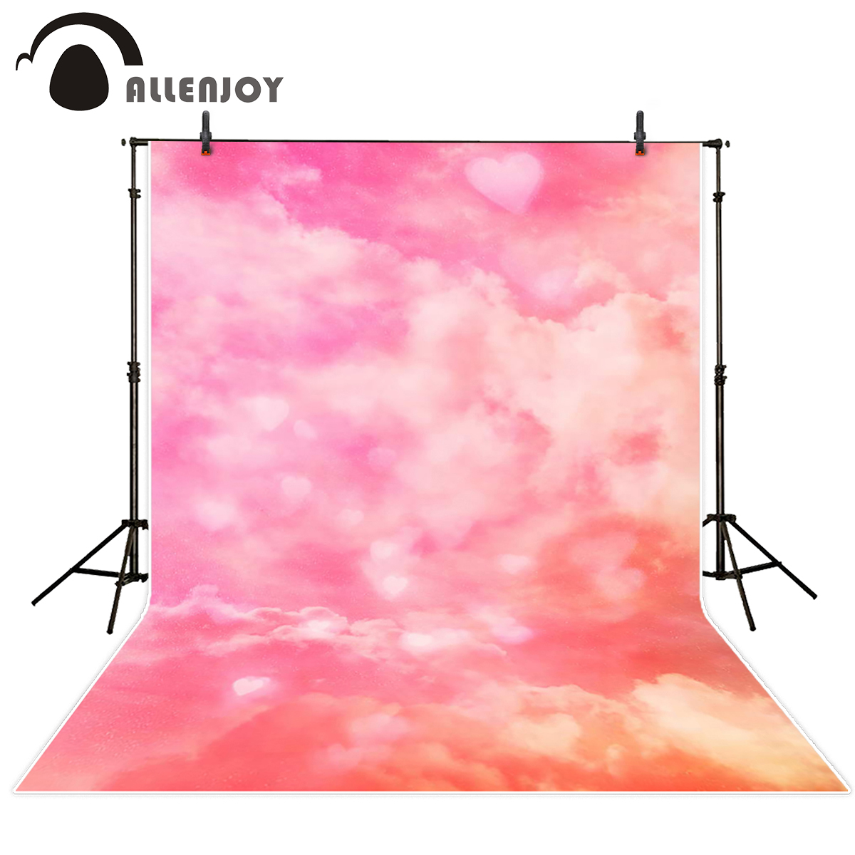 Allenjoy photography backdrops cloud pink love romance background photography backdrop for Valentine's Day send rolled 8x10ft valentine s day photography pink love heart shape adult portrait backdrop d 7324