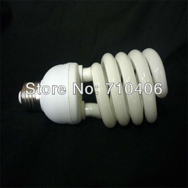 Half spiral lamps warm white Spiral CFL Bulb 25w 30 Watt 220V-240V E27 type 50=60hz