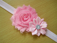 Newly Design Lovely Sweet Children s Elastic Force Hairband Princess Baby Girl Round Flower Headband
