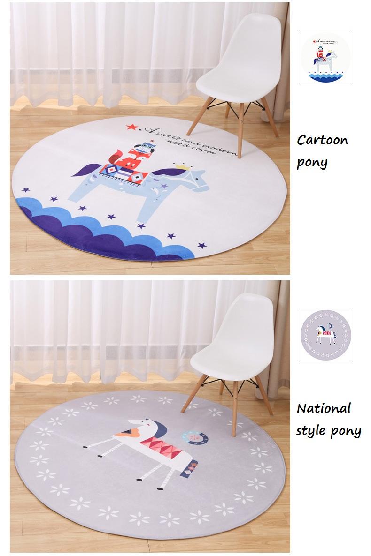 New Lovely Animal Round Carpet Diameter 60 80 100 120CM Super Soft Coral  Fleece Living Room Carpet Children Kids Bedroom Mat Rug - us94 a9e9319d29dd