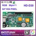 Бесплатная доставка huidu rgb управления карты hd-d30 64*1024 пикселей открытый HD-D30 асинхронных светодиодный экран управления карты