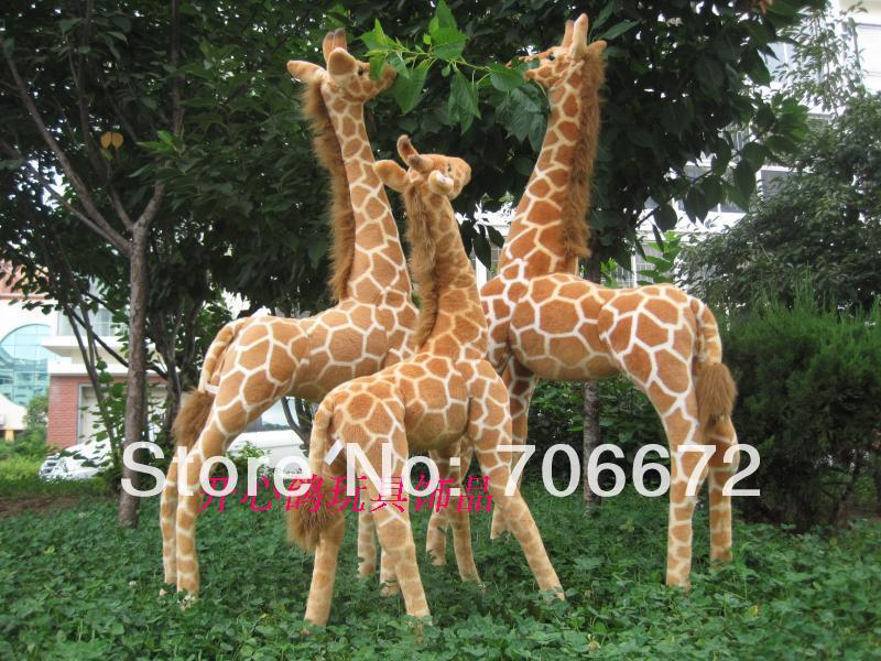 Artificial animal giraffe plush toy doll lifelike giraffe huge about 120cm great gift t8834 giraffe animal series many chew toy pet