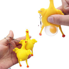 Funny Hens laying egg Toy Kids Birthday Party Jokes Prank toys stress relief toys for kids squeeze Trick toy(China)