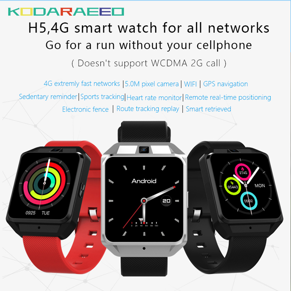 H5 smart watch for Android ios phone MTK6737 Quad Core 1G RAM 8G ROM GPS WiFi Heart Rate 4G smartwatch phone maxinrytec 4g smart watch dm18 android 6 0 mtk6737 quad core 1gb 16gb gps wifi smartwatch phone heart rate sim card pk dm368 h5