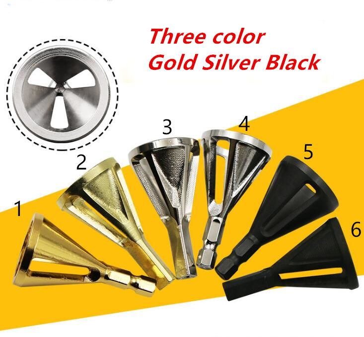 6kinds Gold Silver Black Deburring External Chamfer Tool Stainless Steel Remove Burr Tools Drill Bit