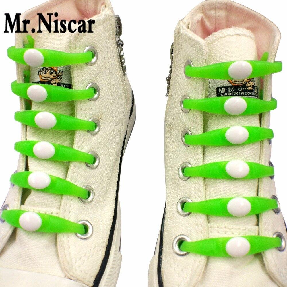 Mr.Niscar 1 Set/12 Pcs Men Women Unisex Kids Elastic Silicone Shoe Laces No Tie Shoelaces for All Sneakers Fit Strap 16 Colors 12pcs lot no tie shoelaces elastic silicone shoe unisex lazy laces men women all sneakers fit strap cordones lacets chaussure