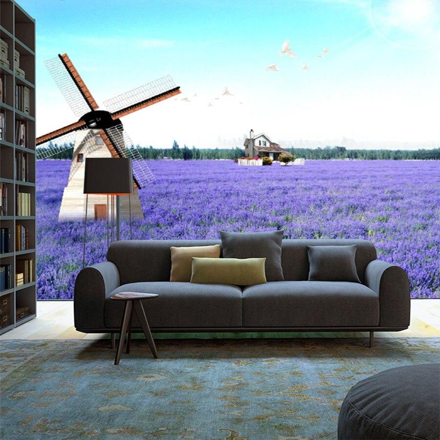 Lavender Living Room Aliexpresscom Buy Lavender Windmill Natural Landscape Vintage