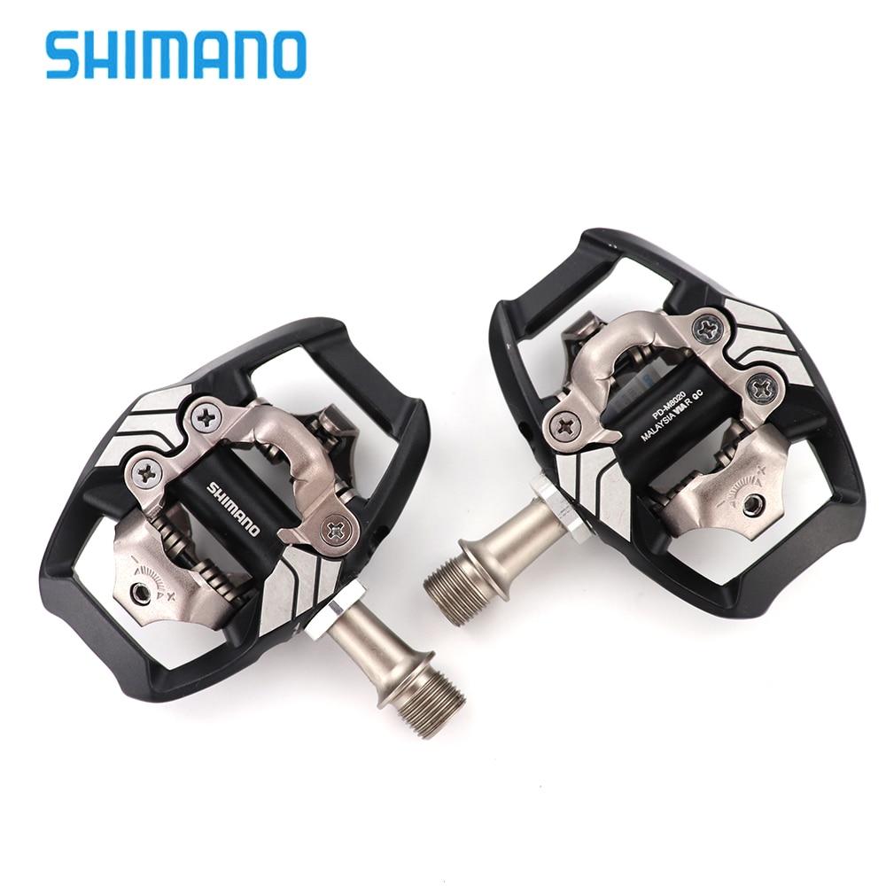 цена Shimano XT PD M8020 Self-Locking SPD Pedals MTB Components Using for Bicycle Racing Mountain Bike Parts онлайн в 2017 году
