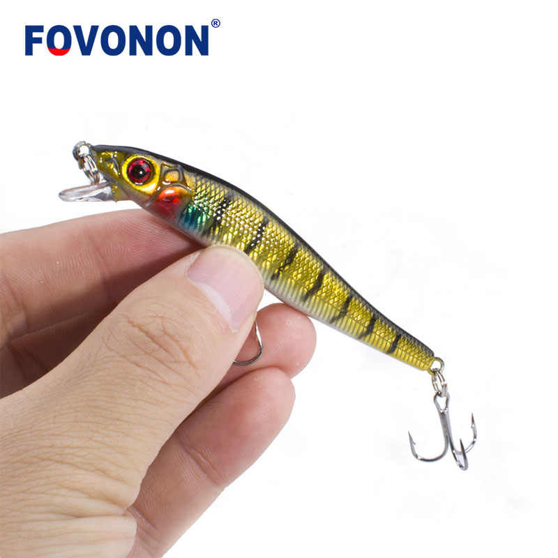 FOVONON أسماك 1 قطع الصلب الطعم 8 سنتيمتر 5.5 جرام الصيد السحر العائمة Crankbaits Jarkbait الاصطناعي الطعم