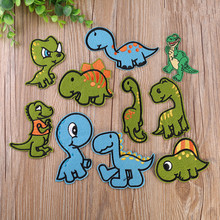 10pcs dinosaur Iron On Patches Sewing for clothing Embroidered child Applique Garment Clothes Stickers DIY Accessory