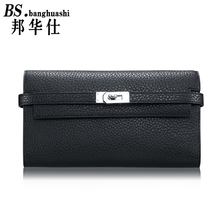 Brand leather female purse, pumping with Ms. purse wallet Pocket Coin Holder Woman Genuine Leather Wallet
